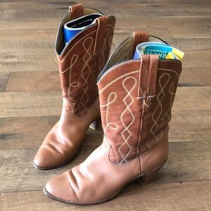 Frye Vintage Leather Cowboy Boots Size: 10B